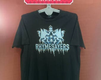 Vintage Rhymesayers Shirt Spellout Big Logo Shirt Black Colour Underground Band Shirt Iron Maiden Shirt Concert Shirt