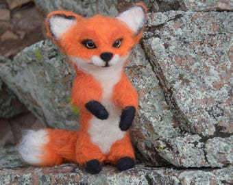 Felted Fox 100% handmade