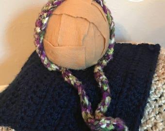 Newborn crochet bonnet