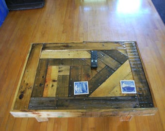 coffee table with hidden compartment