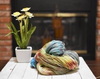 Hand-dyed yarn, 100% merino wool, 2-ply, 400yrd, Coastal Sunset