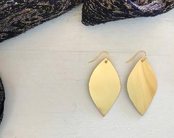 Gold Cutout Earrings