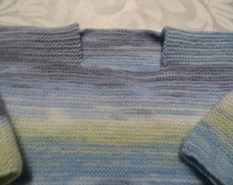 Baby girl or boy square neckline jumper size 1 year
