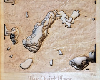 Custom Laser Engraved Relief Map