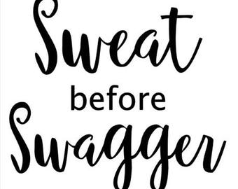Sweat Before Swagger - Racerback Tank
