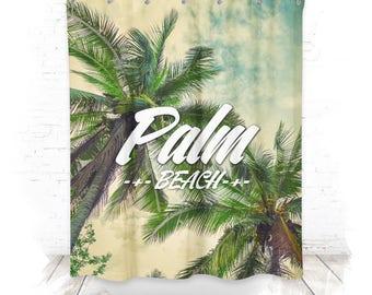 Shower curtain / shower curtain 150cm Palm