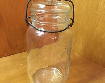 Vintage 1920's ATLAS E-Z Seal Canning Jar