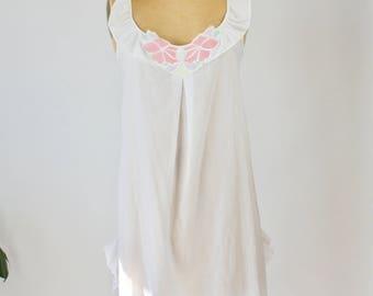 Vintage Diane Von Furstenburg lightweight cotton woven nighty / babydoll