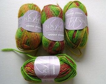 Nashua Wooly Stripes Wool Self Striping Yarn Key West Variegated Yarn Wool Yarn Nashua Handknits destash yarn