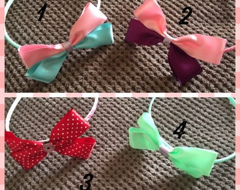 Headbands with bows