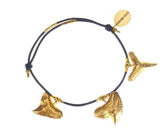 Shark tooth charm bracelet