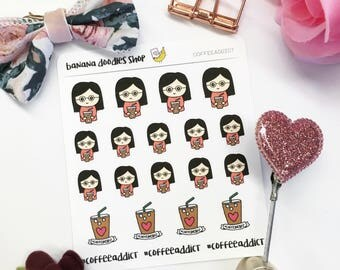 Coffee Addict Stickers