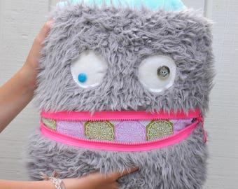 Snowflake Monster Pillow & Blanket