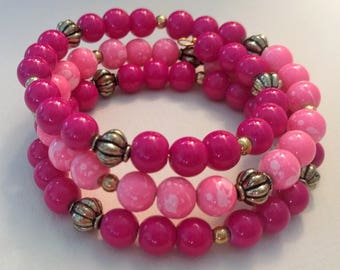 Two-tone Pink and Gold bracelet