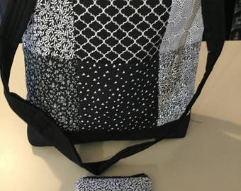 Quilted Handmade Patchwork Tote Bag and Coin Purse
