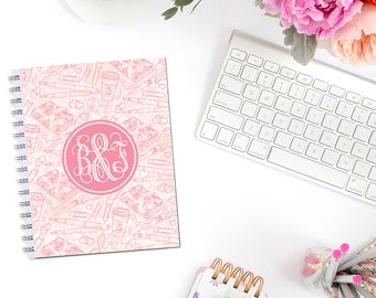 Planner Addict Planner Cover Personalized Monogram Dashboard Erin Condren Recollections A5 Personal Pocket Personal