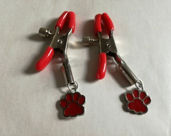 Red Paw Nipple Clamps