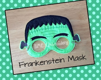 Frankenstein Felt Mask- Child's Dress Up Imaginary Play- Birthday Party Favor-Photo Shoot-Pretend Play-Halloween Party