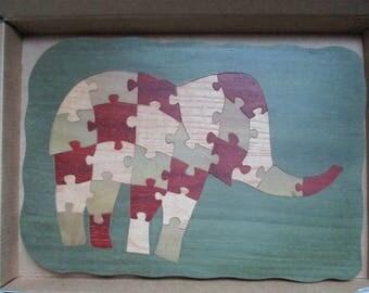 puzzle elephant child