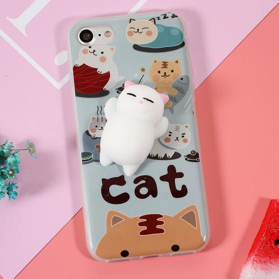 Squishy Cat Belly Phone Case : Squishy Cat Hard Plastic Case Iphone 7