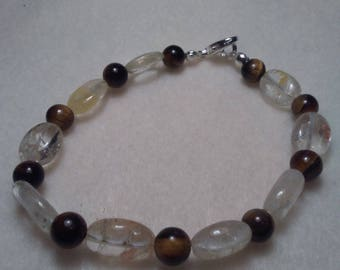 Citrine and Tiger Eye Beaded bracelet