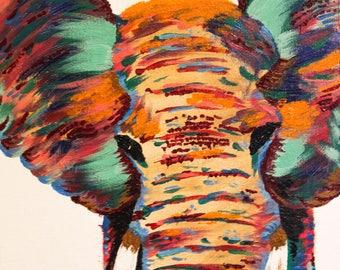 Elephant Colors - Original Acrylic Painting
