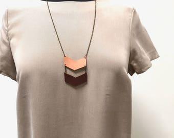 2-tone Chevron Necklace