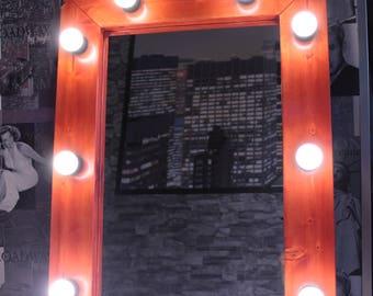 Make-up-Hollywood vanity mirror with lights