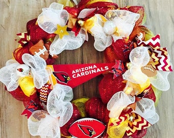 Arizona Cardinals LED Wreath