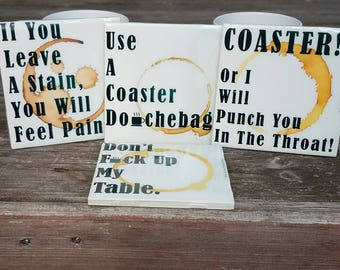 Don't Mess Up The Table Ceramic Drink Coasters.