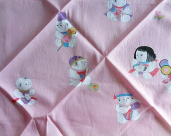 VJ938 : Furoshiki cloth,Fine Japanese Furoshiki gift wrapping cloth, Nylon furoshiki cloth,made in Japan