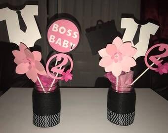 Boss Baby Girl Centerpieces