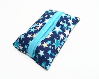 Etui à mouchoirs - Nuée d'étoiles bleues