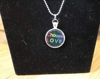 Violence Begets.../The Cycle Pendant or Choose Love Necklace