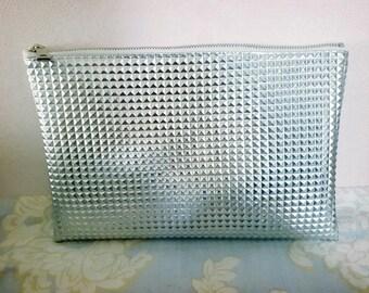 Ludia Lee's Silver Clutch Bag 11 x 9 inch Handmade