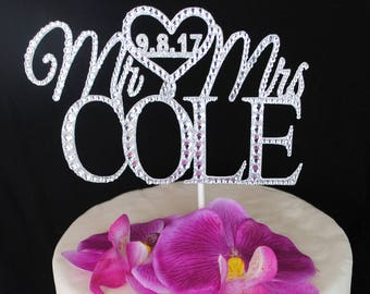 Custom Wedding Cake Topper | Mr. & Mrs. (Your Last Name)