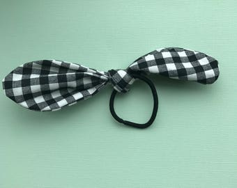 """Girls """"Audrey"""" Knot Hairband, Women's Knot Hairband, Gingham Hairbands, Hair Accessories, Kids Hair Accessories, Top Knot Hairband"""