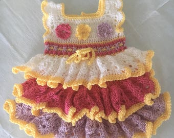 Tiered baby dress. 0/3 months