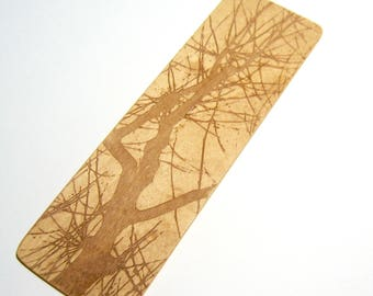 Wooden Bookmark Bare branches Book lover's gift