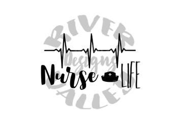 Nurse Life - Set of 2 different style SVG's