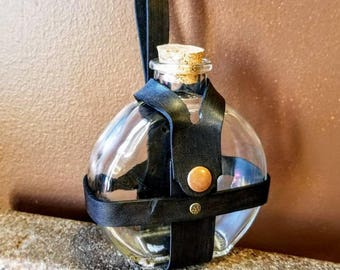 Steampunk Flask Potion Bottle || Apothecary || Spells