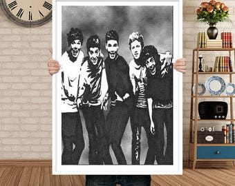 One Direction poster, One Direction, Rock, Wall art, Pop, harry styles, louis tomlinson, liam payne, gift, Music poster, niall horan, print