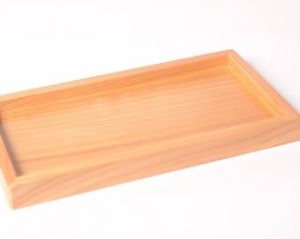 Natural tray for 3-soap dish