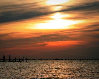 "Canvas Art - ""Virginia Pilot's Sunset"""