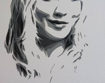 Penny big bang stencil