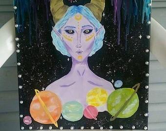 Intergalatic Beauty Queen Painting