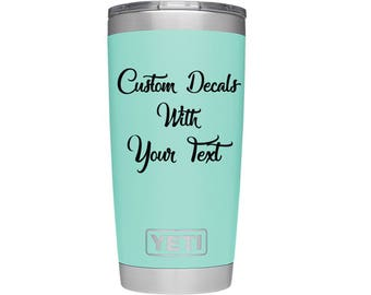 Yeti Decal Etsy - Custom vinyl decals etsy