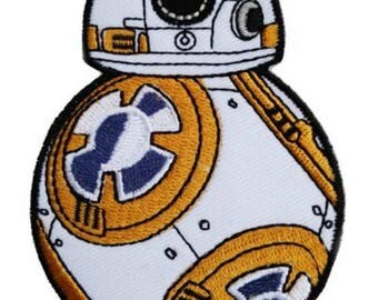 "FREE SHIPPING-Domestic-InspireMeByAudrey Star Wars BB8 Full Body Patch Embroidered Sew/Iron-on Patch/Applique 3.5""x2.5"""