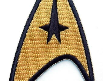 """FREE SHIPPING-Domestic-InspireMeByAudrey Star Trek Command Insignia Full Color Iron-On Patch 3""""x2"""""""