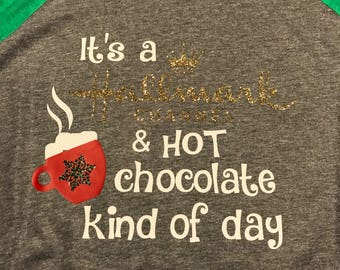 It's a Hallmark channel and hot chocolate kind of day - grey/green raglan